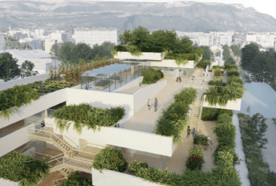 Un jardin potager, un bar, un restaurant et un atelier partagé sur le toit d